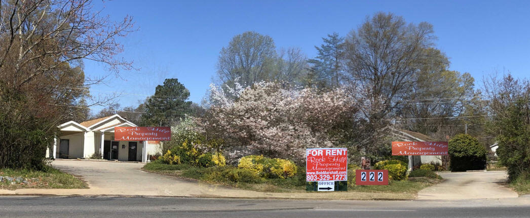 Rock Hill Property Mgmt sign, 222 S Cherry Rd, (use POBox 91 for United Postal Service), Rock Hill, SC 29731